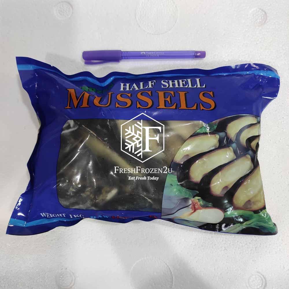 Black Mussel L (Half Shell) (500 g)