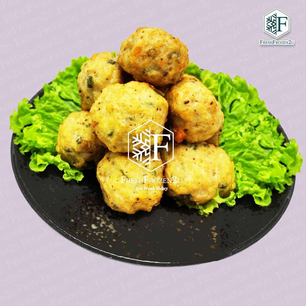 Ball Chicken Black Pepper (12 pcs)  黑胡椒鸡肉丸