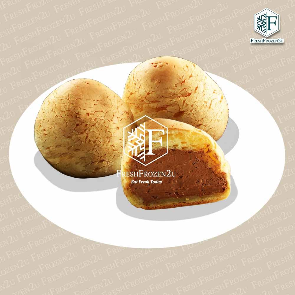 Cake Cream Puff Mochi (Chocolate) (1 pc) (Halal)